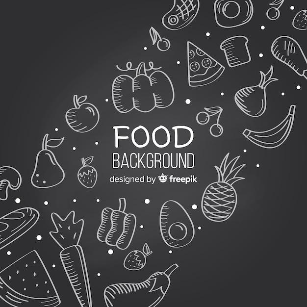 Fondo de alimentos vector gratuito