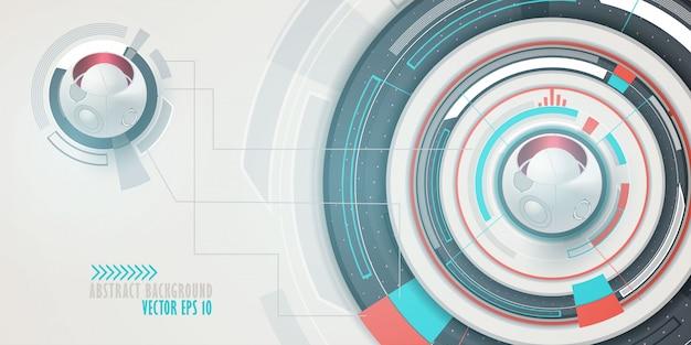 Fondo de alta tecnología en tecnología digital. Vector Premium