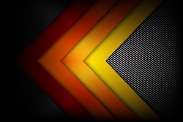 Fondo Fondos Abstractos Rojo Y Amarillo: Fondo Amarillo Anaranjado Rojo Abstracto Fibra De Carbono