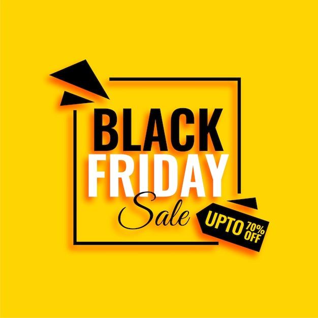 Fondo amarillo atractivo de la venta del viernes negro vector gratuito