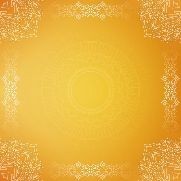 Fondo amarillo decorativo hermoso de lujo abstracto vector gratuito