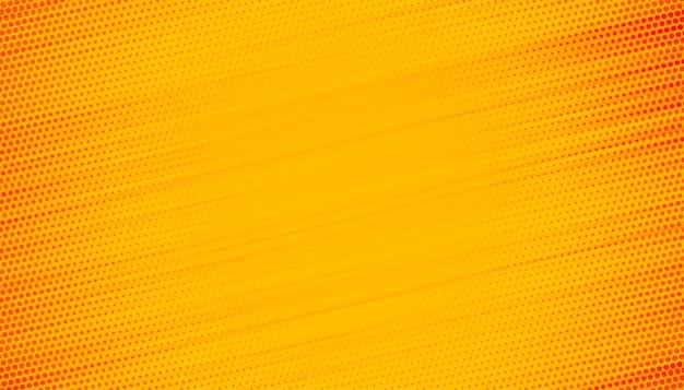 Fondo amarillo con diseño de líneas de semitono vector gratuito