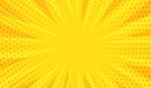 Fondo amarillo moderno abstracto Vector Premium