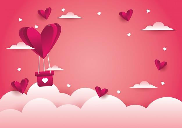 Fondo de amor y dia de san valentin. Vector Premium