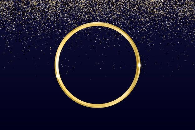 Fondo de anillo de oro vector gratuito