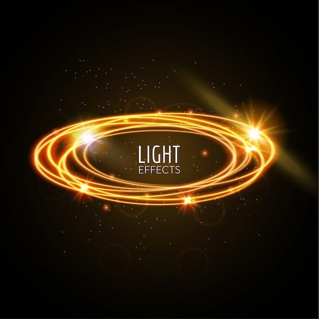 Fondo de anillos de efectos de luz Vector Premium