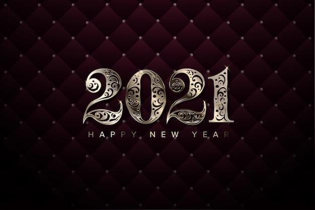 Fondo de año nuevo de lujo 2021 Vector Premium