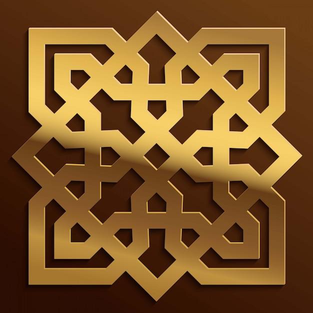 Fondo árabe adorno geométrico de marruecos Vector Premium