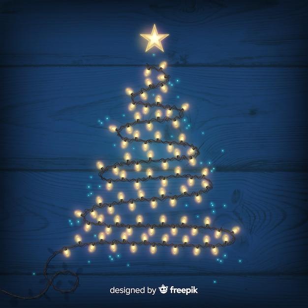 71638e1deb4 Fondo árbol de navidad hecho de luces