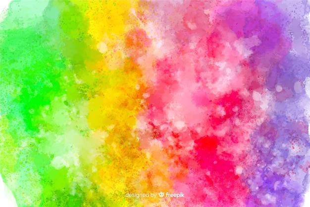 Fondo de arco iris estilo tie-dye vector gratuito