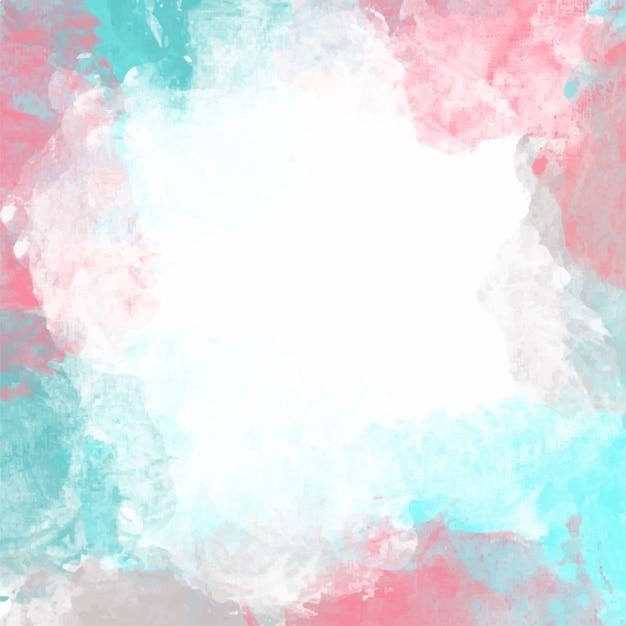 Fondo Artístico De Color Pastel De Acuarela