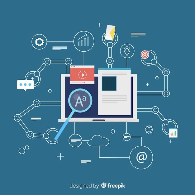Fondo automatización márketing vector gratuito
