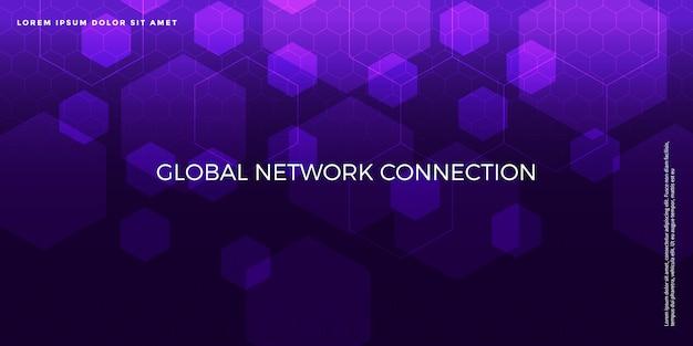 Fondo avanzado de tecnología digital Vector Premium