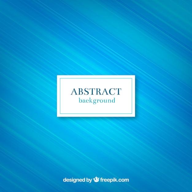 Fondo azul abstracto de líneas Vector Gratis