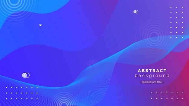 Fondo azul abstracto con formas de degradado Vector Premium
