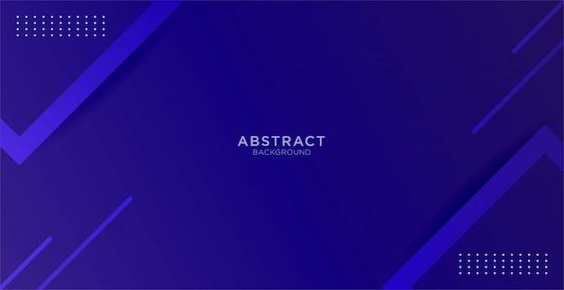 Fondo azul abstracto con mínimo geométrico y forma Vector Premium