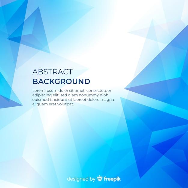Fondo azul abstracto moderno con formas geométricas vector gratuito