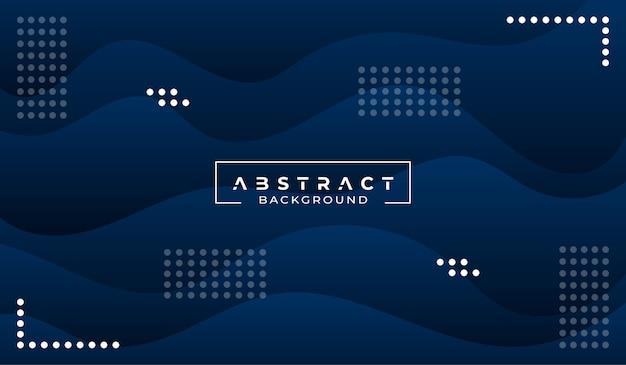 Fondo azul abstracto moderno Vector Premium