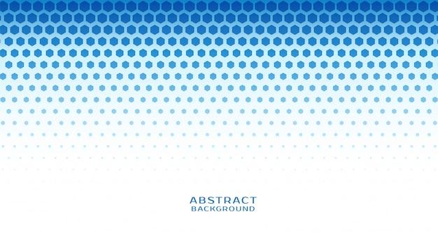 Fondo azul abstracto de semitono hexagonal vector gratuito