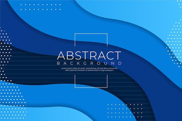 Fondo azul clásico abstracto y efecto líquido vector gratuito
