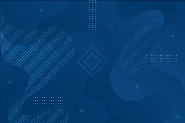 Fondo azul clásico abstracto con forma geométrica vector gratuito
