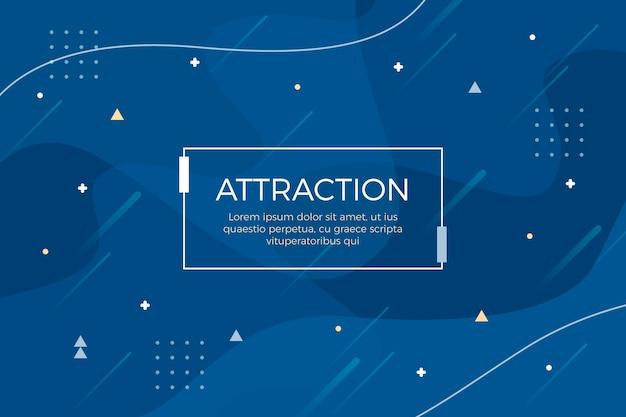 Fondo azul clásico abstracto Vector Premium