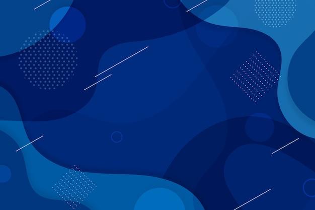 Fondo azul clásico creativo vector gratuito