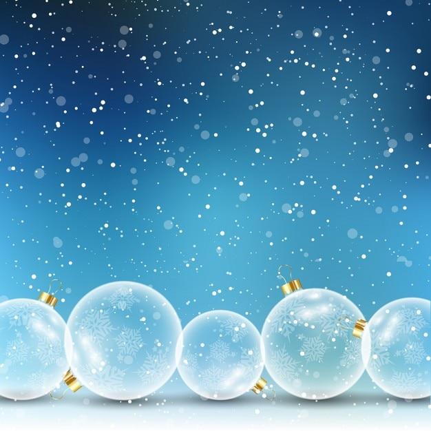 Fondo azul con bolas de navidad descargar vectores gratis for Fondos movibles para pc