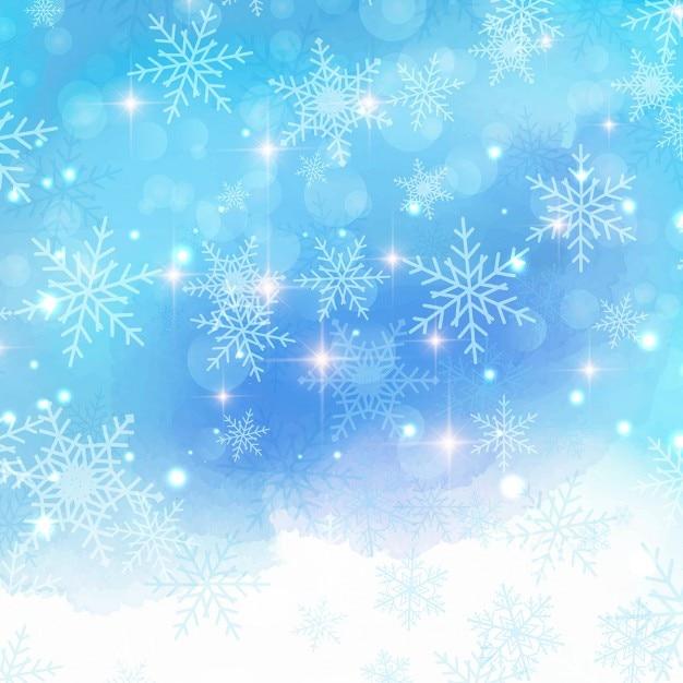 Fondo azul con copos de nieve para navidad descargar - Nieve para arbol de navidad ...