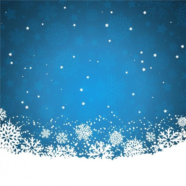 Fondo azul con copos de nieve y estrellas descargar for Estrella de nieve