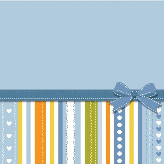 El Dorado Blue Card >> Fondo azul con rayas y lazo | Descargar Vectores gratis