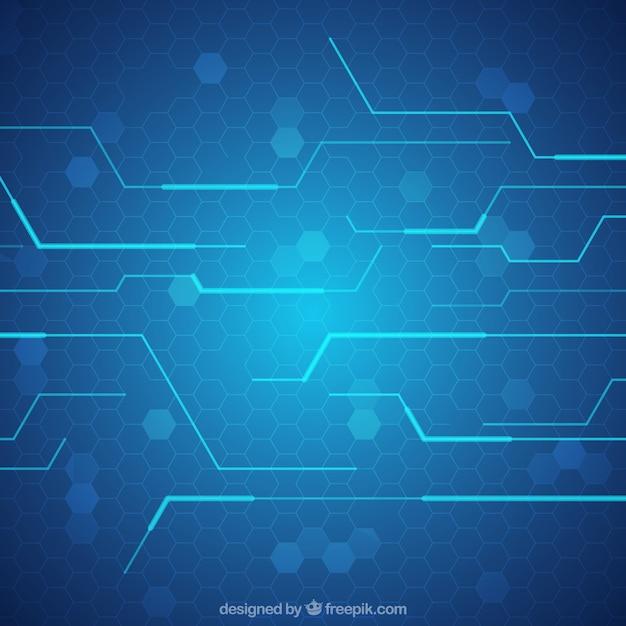 Fondo Azul Tecnologia Con Lineas 23 Degradado Marino