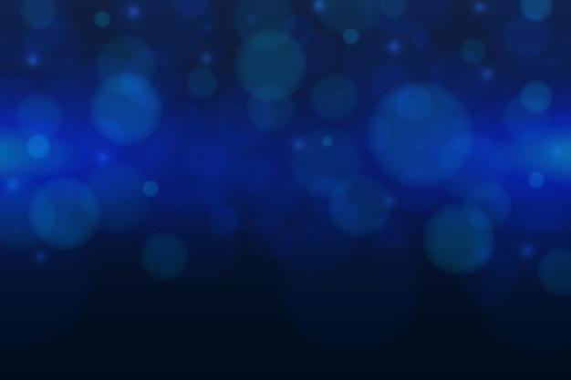 Fondo azul con efecto bokeh vector gratuito