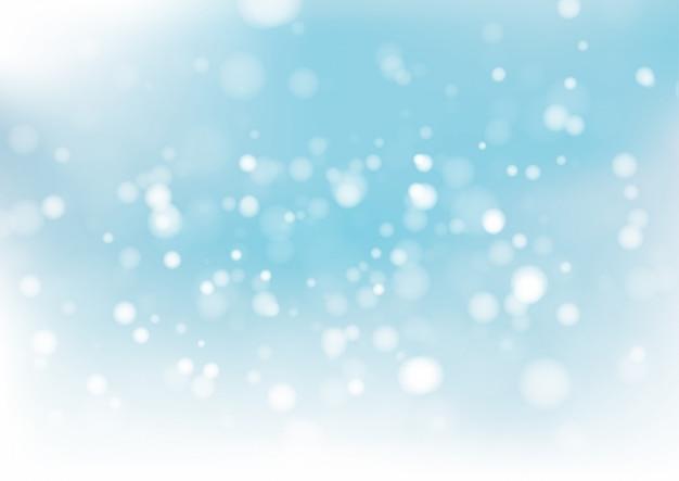 Fondo azul del extracto del bokeh. ilustración vectorial Vector Premium