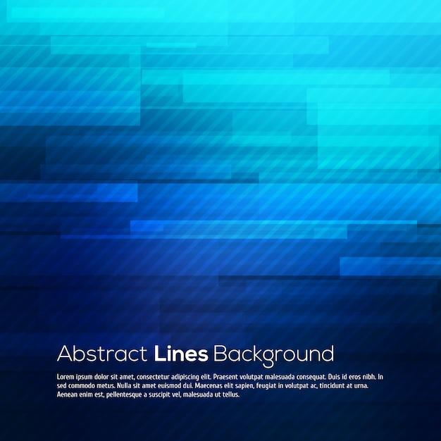 Fondo azul líneas abstractas. Vector Premium