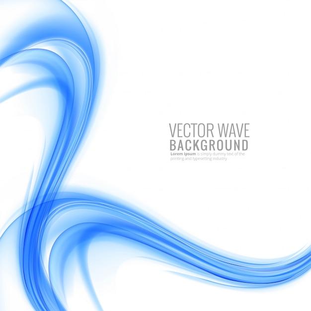 Fondo azul moderno de la onda vector gratuito