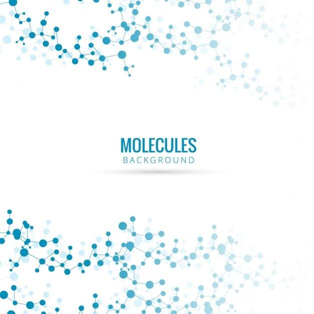 Fondo azul con moléculas vector gratuito