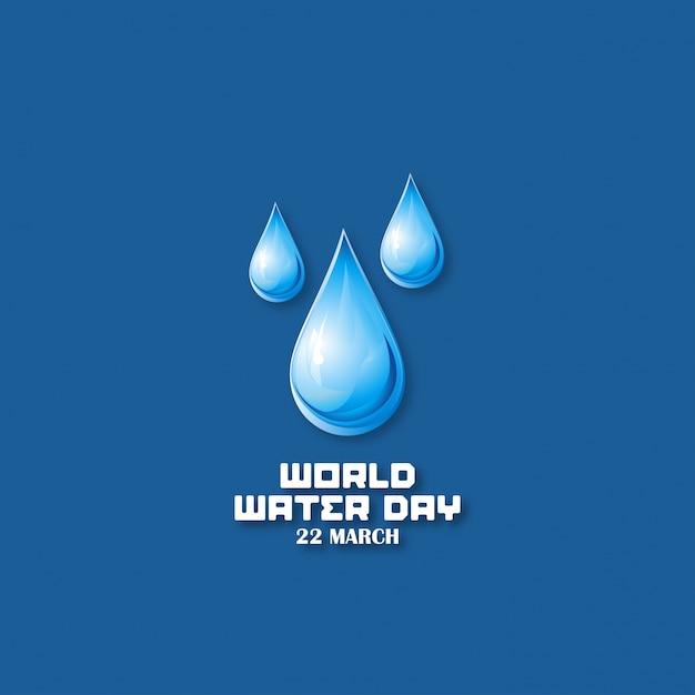 Fondo azul oscuro con gotas para el día mundial del agua Vector Gratis