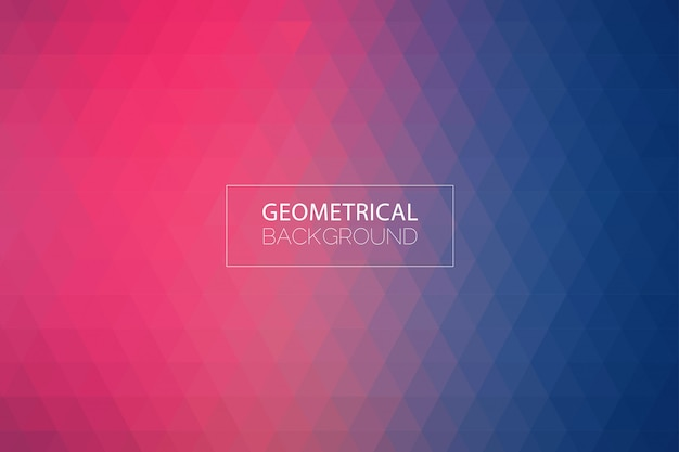 Fondo azul púrpura geométrico moderno Vector Premium