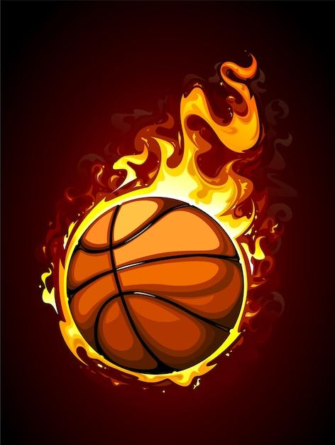 Fondo de baloncesto dibujado a mano vector gratuito
