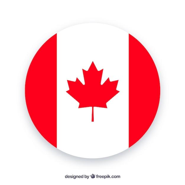 Fondo de bandera canadiense redonda vector gratuito