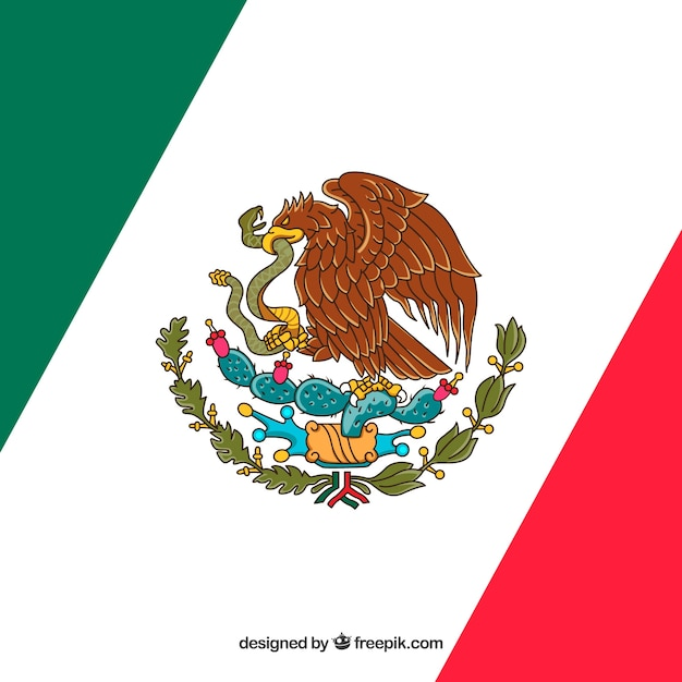 Fondo De Bandera De Mexico Diagonal Descargar Vectores Gratis