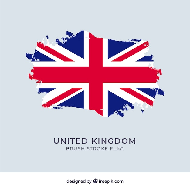 Fondo de bandera del reino unido vector gratuito