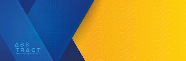 Fondo de banner azul y naranja Vector Premium