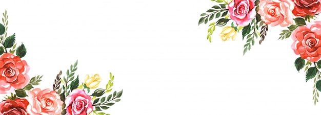 Fondo de banner creativo de flores elegantes vector gratuito
