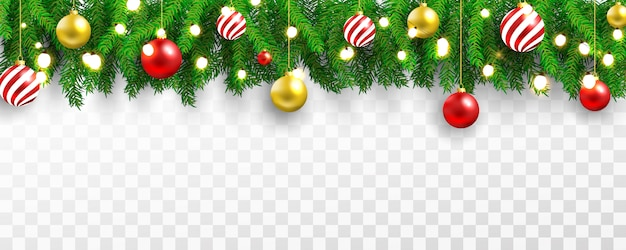 Fondo de banner ligero de fiesta de navidad y feliz año nuevo. Vector Premium