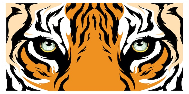 Fondo de banner de ojo de tigre Vector Premium