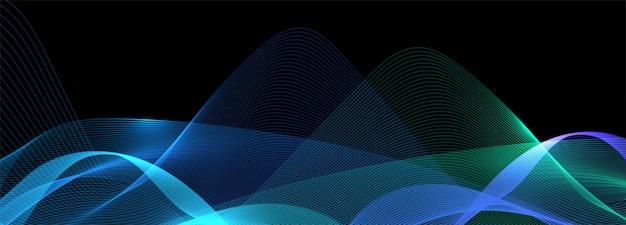 Fondo de banner de onda de negocio colorido brillante abstracto vector gratuito