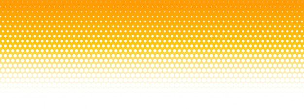 Fondo de banner de semitono naranja y blanco vector gratuito
