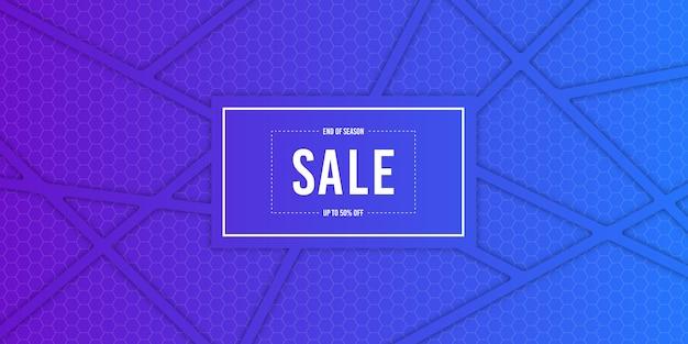 Fondo de banner de venta gradiente Vector Premium
